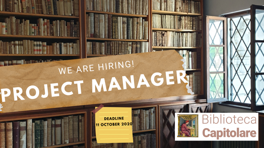 Open call for a Project Manager – deadline 11 october 2020